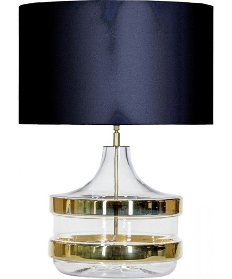 4Concepts Baden Baden Gold L224181308 Lampa Stołowa abażur czarno-złoty