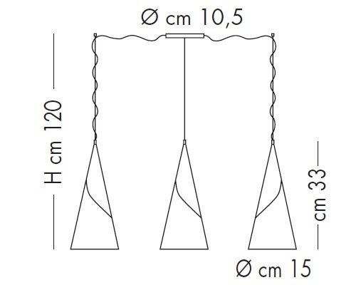 ALBACHIARA SP 1016/3X15 satynowa Oprawa Wisząca