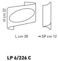 ATENE LP 6/226C bursztynowy/miedziny 30 x 22 cm Kinkiet Sillux