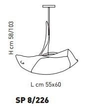 ATENE SP 8/226 bursztynowy/miedziany 55 x 60 cm Oprawa Wisząca Sillux