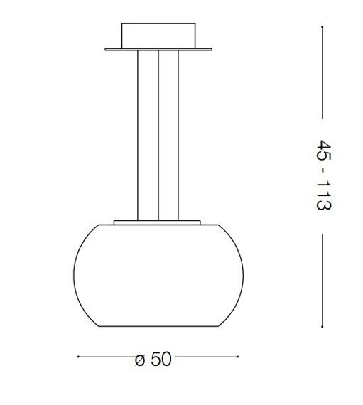 AUDI-61 SP8 133881 Lampa wisząca Ideal Lux chrom