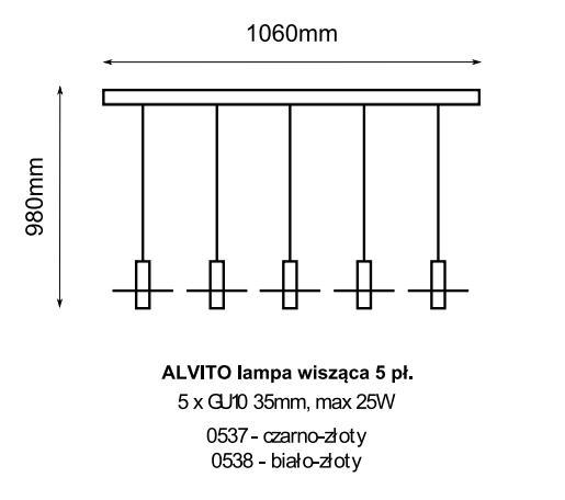 Amplex Kavos 0537 Zwis czarno-złoty