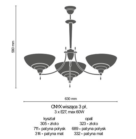 Amplex Onyx 323 Zwis złoty