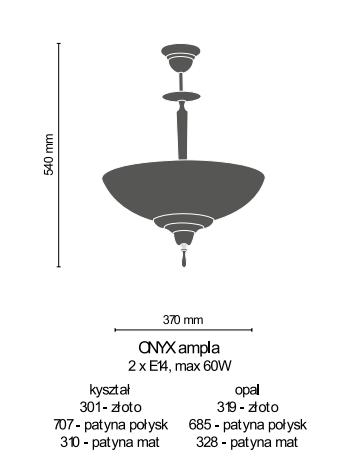 Amplex Onyx 685 Zwis patyna połysk