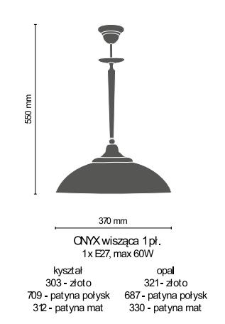Amplex Onyx 687 Zwis patyna połysk