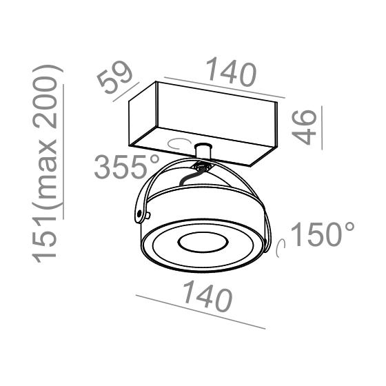 Aqform Reflektor CERES 12522-L930-F1-00-03