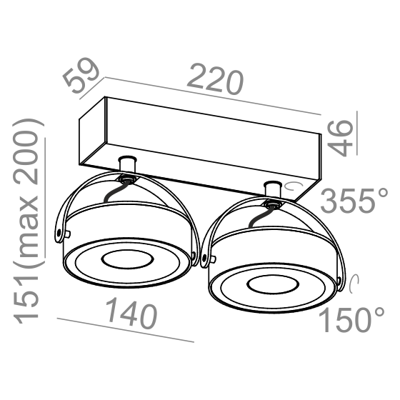 Aqform Reflektor CERES 12524-L930-F1-00-03