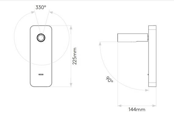 Astro Enna Surface USB 1058153 Czarna Lampa Ścienna