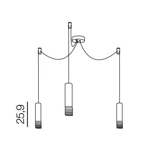 Azzardo Locus 3 AZ3404 Lampa wisząca