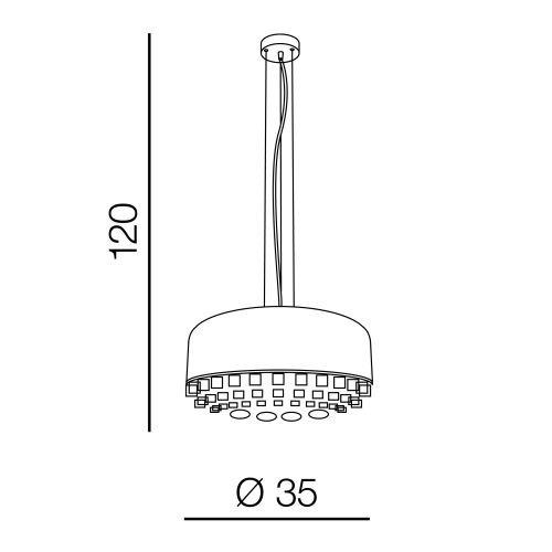 Azzardo Tarant AZ3163 Lampa z kryształkami