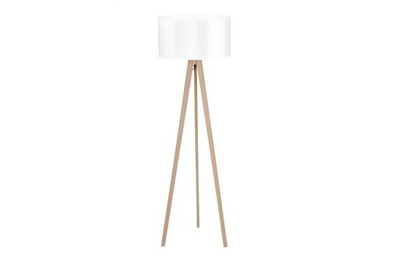 Azzardo Tripod Wood white Lampa Stojąca