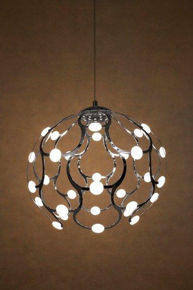 Berella Light Aspilia 40 chrom Żyrandol Kula LED