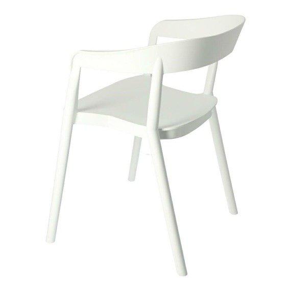 Bow krzesło w kolorze białym