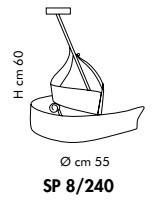 CAPRI SP 8240 Oprawa Wisząca bursztyn/miedziany Sillux