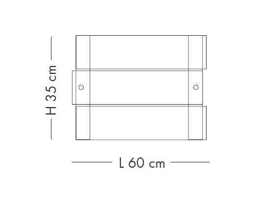 CRAZY LS 1037/60P satynowy Plafon Lampade Italiane 60 cm