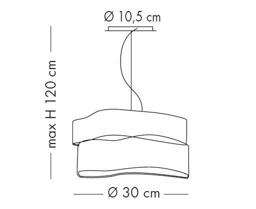 CRAZY SP 1037/30S satynowa Oprawa Wisząca Lampade Italiane 30 cm