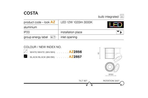 Costa AZ2857 Plafon Azzardo
