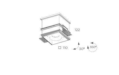 Cube  8204.01 Oprawa pod zabudowę BPM Lighting