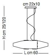 DETROIT SP7/218 60cm Oprawa Wisząca Sillux