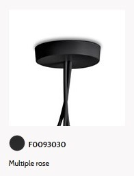 Flos AIM/AIM SMALL EU ROSONE MULT.BCO rozeta mocująca czarna