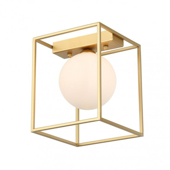 Geometryczna Lampa sufitowa Italux Mediamo biała kula
