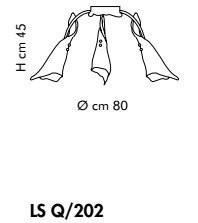 KINGSTON LS Q/202 Plafon Sillux  miedziany