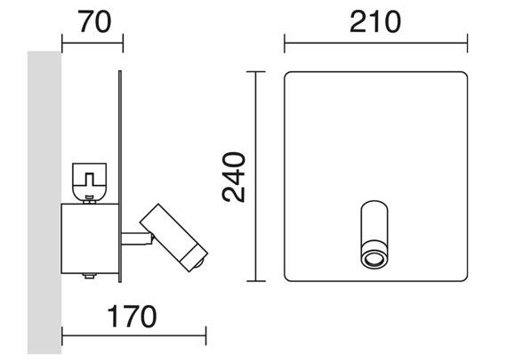 Kinkiet Baltic 727C-Y05X1B-01 Novolux Exo + USB