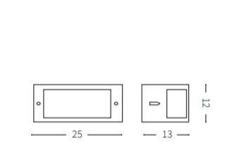 Kinkiet Zewnętrzny Ideal lux REX-1 AP1 Kawowy