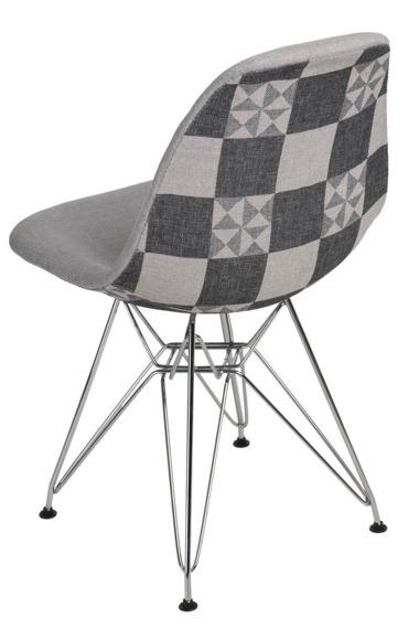 Krzesło P016 DSR Pattern szare/patchwork