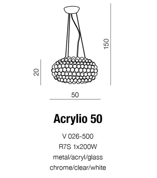 Lampa AZZARDO Acrylio V 026-500