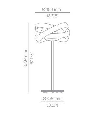 Lampa Estiluz Siso P-2998 chrome