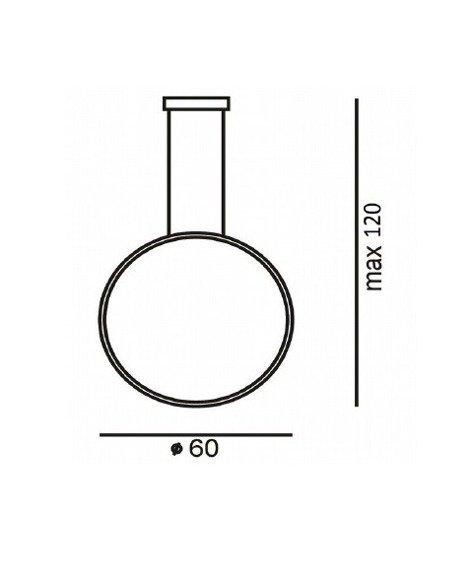 Lampa Okrągła Ramko Echo Vertical 67950 czarna 60 cm