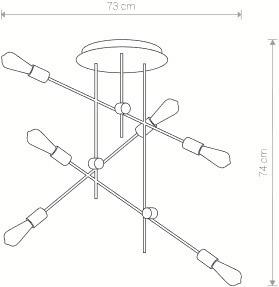 Lampa Plafon AXIS VI 9297 Nowodvorski