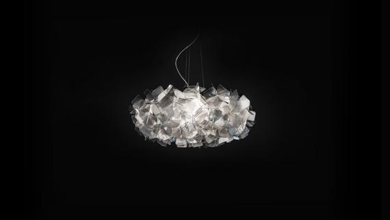 Lampa SLAMP CLIZIA fume 78 cm