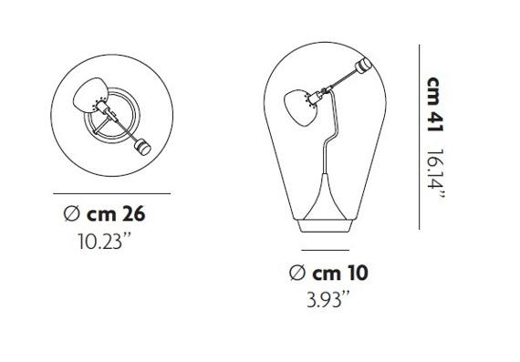Lampa Stolikowa Studio Italia Design Blow