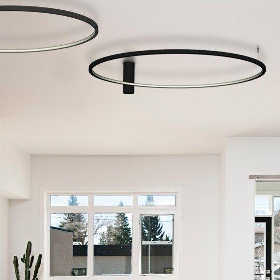 Lampa Sufitowa Ledowa Echo 67949 Ramko 48 W LED czarny