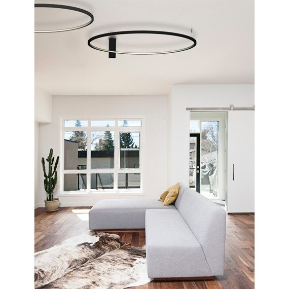 Lampa Sufitowa Ledowa Echo 67949 Ramko 48 W LED czarny 120 cm
