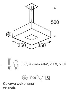Lampa Wisząca Cleoni Vandura 350
