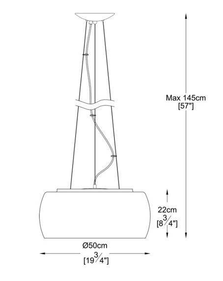Lampa Wisząca Zuma Line Crystal P0076-06X-F4FZ