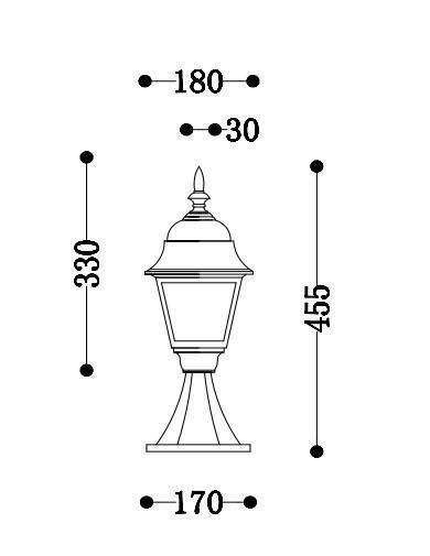 Lampa ogrodowa Maytoni Abbey Road O004FL-01B