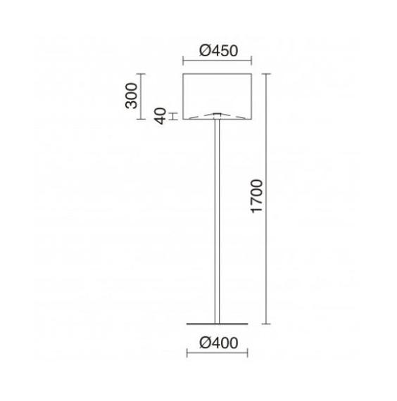 Lampa podłogowa Amsterdam 909A-G05X1A-01Novolux Exo