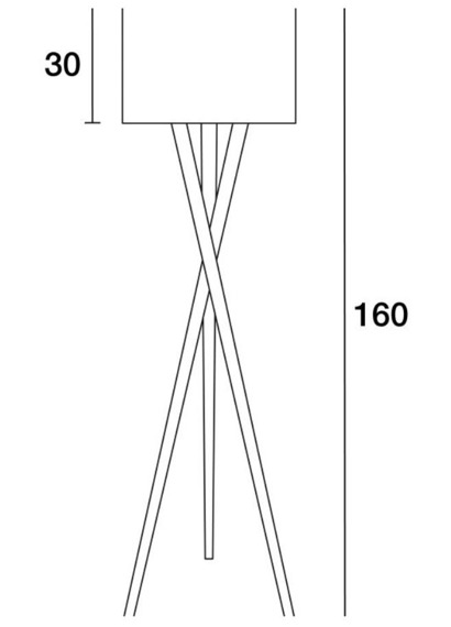 Lampa podłogowa Wood 621A-G05X1A-50 Novolux Exo
