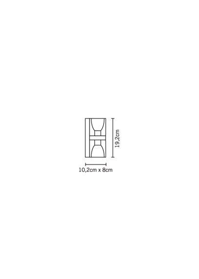 Lampa ścienna Fabbian CUBETTO BLACK D28 D01 02
