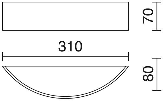 Lampa ścienna Novolux Exo Deneb 695A-L0112A-01