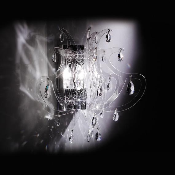 Lampa ścienna Slamp Lillibet Mini w kolorze transparentnym