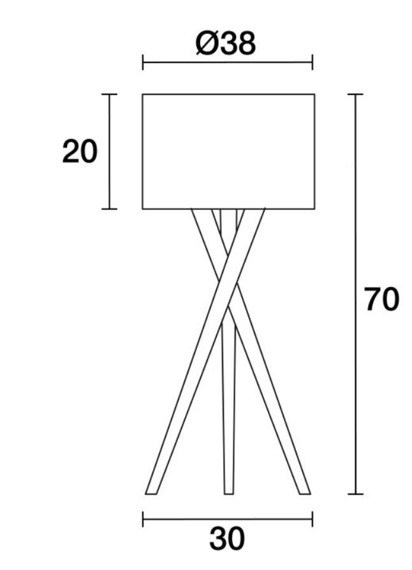 Lampa stołowa Wood 621B-G05X1A-50 Novolux Exo