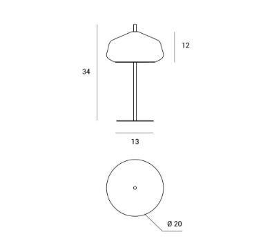 Lampa stołowa z transparentnym kloszem Miloox X-Ray