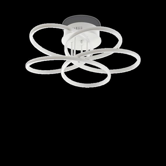 Lampa sufitowa biała LED Ideal Lux Karol PL D65
