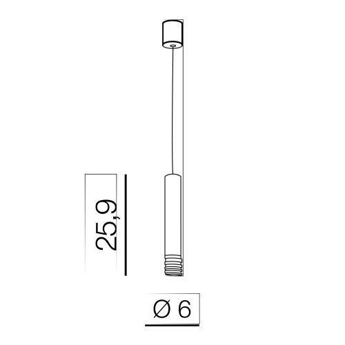 Lampa wisząca Azzardo Locus L AZ3130