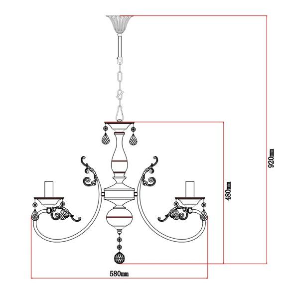Lampa wisząca MW-Light Classic 301018106